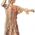 Афина Промахос. Бронза. 450 г. до н.э.