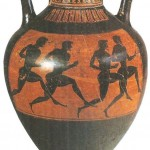 Панафинейская амфора. 500 г. до н.э.