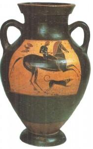Чернофигурная амфора. 550-е гг. до н.э. Греция