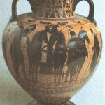 Чернофигурная амфора. 540-530 гг. до н.э.
