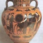 Чернофиугрная амфора. 6 век до н.э.