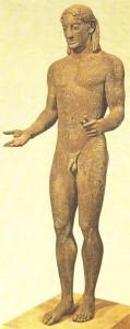 Апполон из Пирея. Бронза. Около 520 г. до н.э.