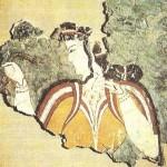 Дама с ожерельем. Фреска из Микен. 13 век до н.э.