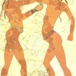 Боксирующие дети. Фреска с о-ва Тира. 16 век до н.э.