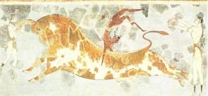 Фреска из Кносского дворца. 15 в. до н.э.