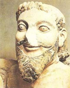 Часть фронтона Гекатотмпедона на афинском Акрополе. 570 г. до н.э.