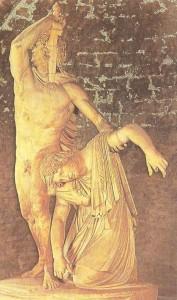 Галл, убивающий себя и свою жену. Мрамор, римская копия 3 века до н.э.