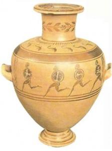 Гидрия с изображением бегущих воинов. 4 век до н.э.