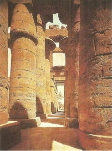 Гипостильный зал храма Амона