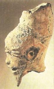 Терракотовая голова. Культура Сао