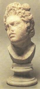 Голова сатира. Римская копия. Мрамор. 2 век до н.э.