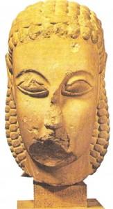 Дипилонская голова. Афины. Около 600 г. до н.э.