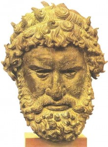 Голова кулачного бойца из Олимпии. Бронза. 330 г. до н.э.