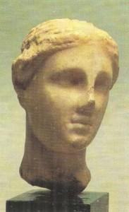 Головка Афродиты. Мрамор. 3 век до н.э.