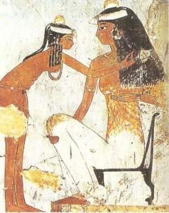 Госпожа и служанка. Роспись из гробницы