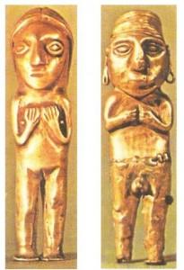 Золотые изделия культуры чиму и культуры инков. Перу. 13-15 века