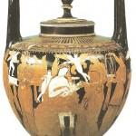 Краснофигурный лекиф. 4 века до н.э.