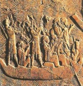 Эпизод военной кампании Сеннахериба в болотах Южной Месопотамии
