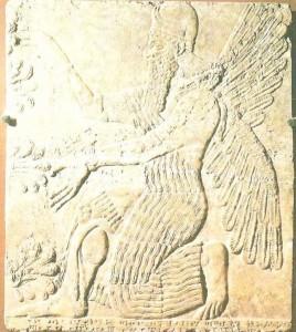 Коленопреклонная фигура из дворца. Месопотамия