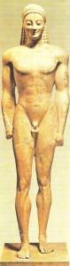 Аттический курос. Середина 6 века до н.э.