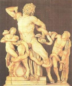 Смерть Лаокоона и его сыновей. Скульпторы Агесандр, Полидор, Афинодор. Мрамор. 1 век до н.э.