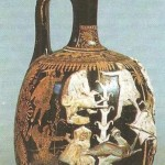 Краснофигурный лекиф. 4 век до н.э.