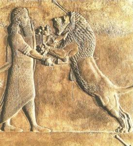 Царь, убивающий льва. Ниневия