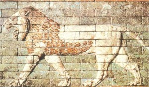 Лев. Декор улицы ведущей к воротам Иштар