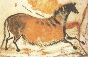 Наскальные изображения лошади. Франция