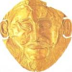 Золотая погребальная маска из Микен. 16 век до н.э.
