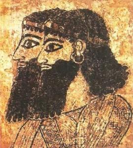 Настенная живопись ассирийского дворца