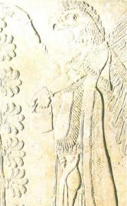 Орлиноголовое божество из дворца в Кальху