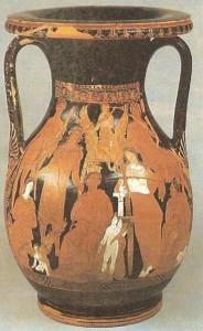 Краснофигурная пелика. 4 век до н.э. Греция