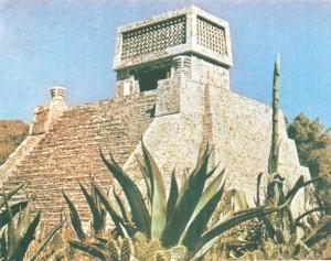 Ацтекская пирамиды с храмом. Санта-Сесилия. 13-15 века