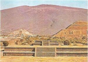 Пирамиды Луны и Солнца. Теотихуакан. 1 тыс.