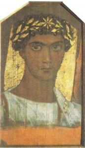 Портрет юноши в золотом венке. Дерево, энкаустика, темпера. 2 век н.э.