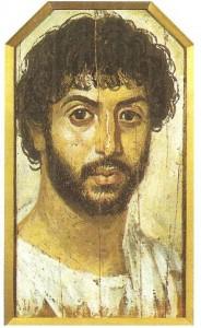 Портрет мужчины с бородой. Дерево, энкаустика и темпера. Фаюм. 2 век до н.э.