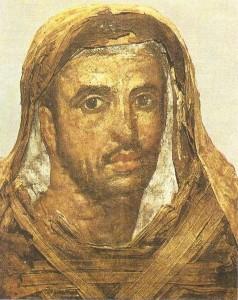 Портрет мужчины. Лен, темпера. Фаюм 1 век н.э.