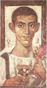 Портрет Аммониуса. Холст, энкаустика. Египет. 3 век н.э.