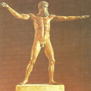 Посейдон с мыса Артемисион. Бронза. 450 г. до н.э.