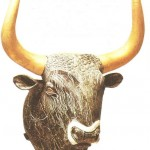 Ритон в виде бычьей головы из Малого дворца в Кноссе. 14 век до н.э.