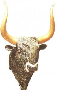 Ритон в виде бычьей головы из Малого дворца в Кноссе. 16 век до н.э.