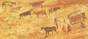 Наскальная живопись. Тассили. Аджер. Африка.