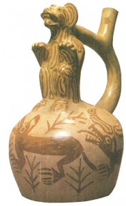 Сосуд с ягуаром. культура мочика (Перу). 1 тыс н.э.