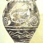 Расписной сосуд из Старого дворца в Фесте. 19-18 вв. до н.э. Греция
