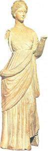 Танагрская статуэтка. Терракота. 3 век до н.э.