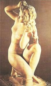 Статуэтка Афродиты с о-ва Родос. Мрамор. 2 век до н.э.