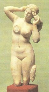 Статуэтка Афродиты Анадиомены из Кирены. 2-1 век до н.э.