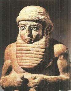 Статуя молящегося правителя. Шумер.
