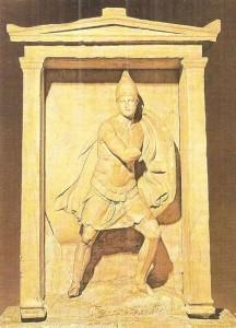 Стела Аристонавта. Мрамор. 4 век до н.э. Эллинизм